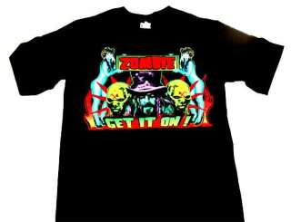 Rob Zombie Get It On Mens Black Shirt Hot Topic SMALL