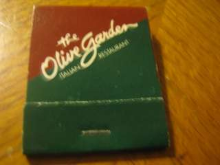 The Olive Garden Italian Restaurant matchbook