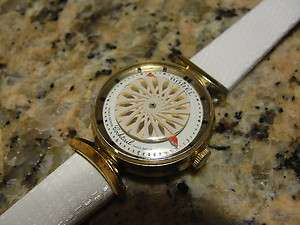 Vintage Borel White Cocktail Watch Mystery Kaleidoscope