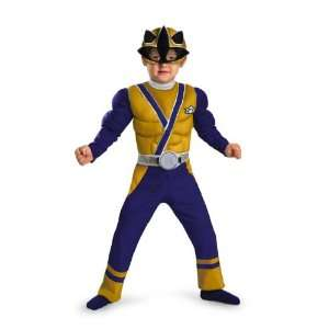 Power Rangers Samurai Gold Ranger Toddler Boys Muscle Costume