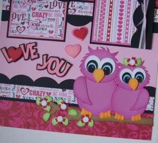 Owl Love Valentine Wedding Premade Pages Paper Piecing TBDL