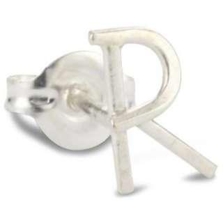 Melissa Joy Manning Alphabet Silver Initial R Stud Earring
