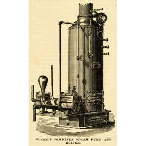 1873 Print Blakes Combined Steam Pump & Boiler Machine