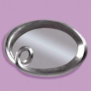 Bassett Mirror Silver Finish Oval Wall Mirror Decor