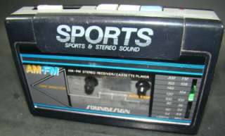 SPORTS SOUNDESIGN PORTABLE STEREO CASSETTE PLAYER AM/FM RADIO 4369 BLK