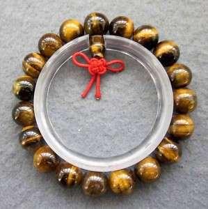 Tiger Eye Gem Beads Tibet Buddhist Prayer Mala Bracelet