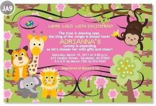 20 Custom PHOTO Giraffe Birdie Monkey Jungle Lion Animal Baby Shower