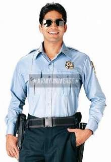 Light Blue Official Security Uniform Long Sleeve Shirt 613902001053