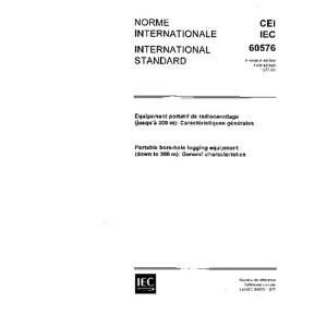 IEC 60576 Ed. 1.0 b:1977, Portable bore hole logging equipment